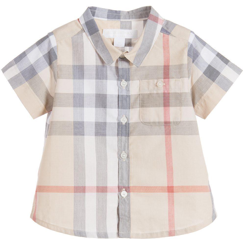 burberry beige check shirt