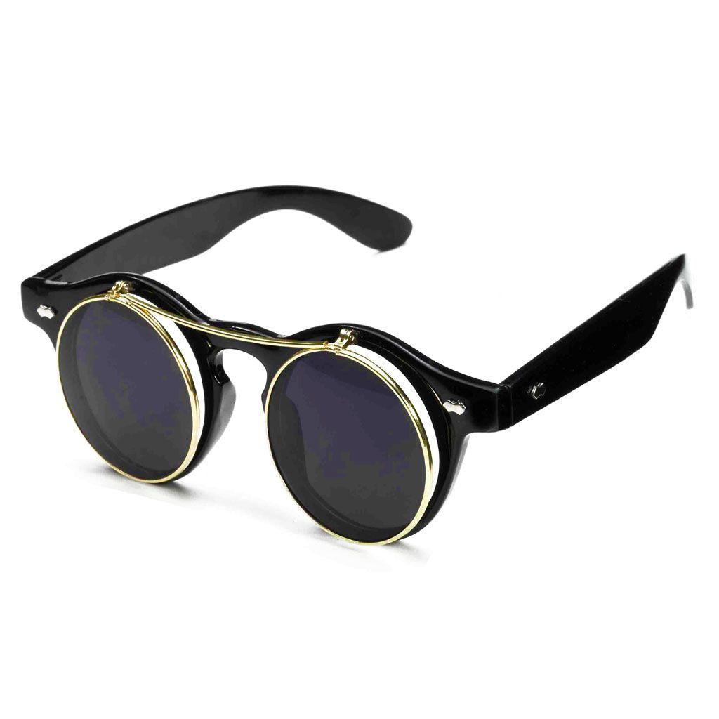 Flipup Steampunk Glasses
