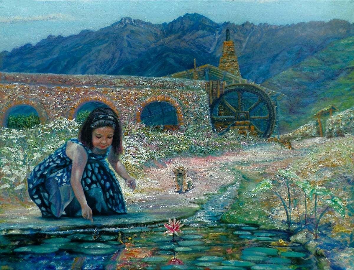 Image result for pinturas en oleo de paisajes andinos
