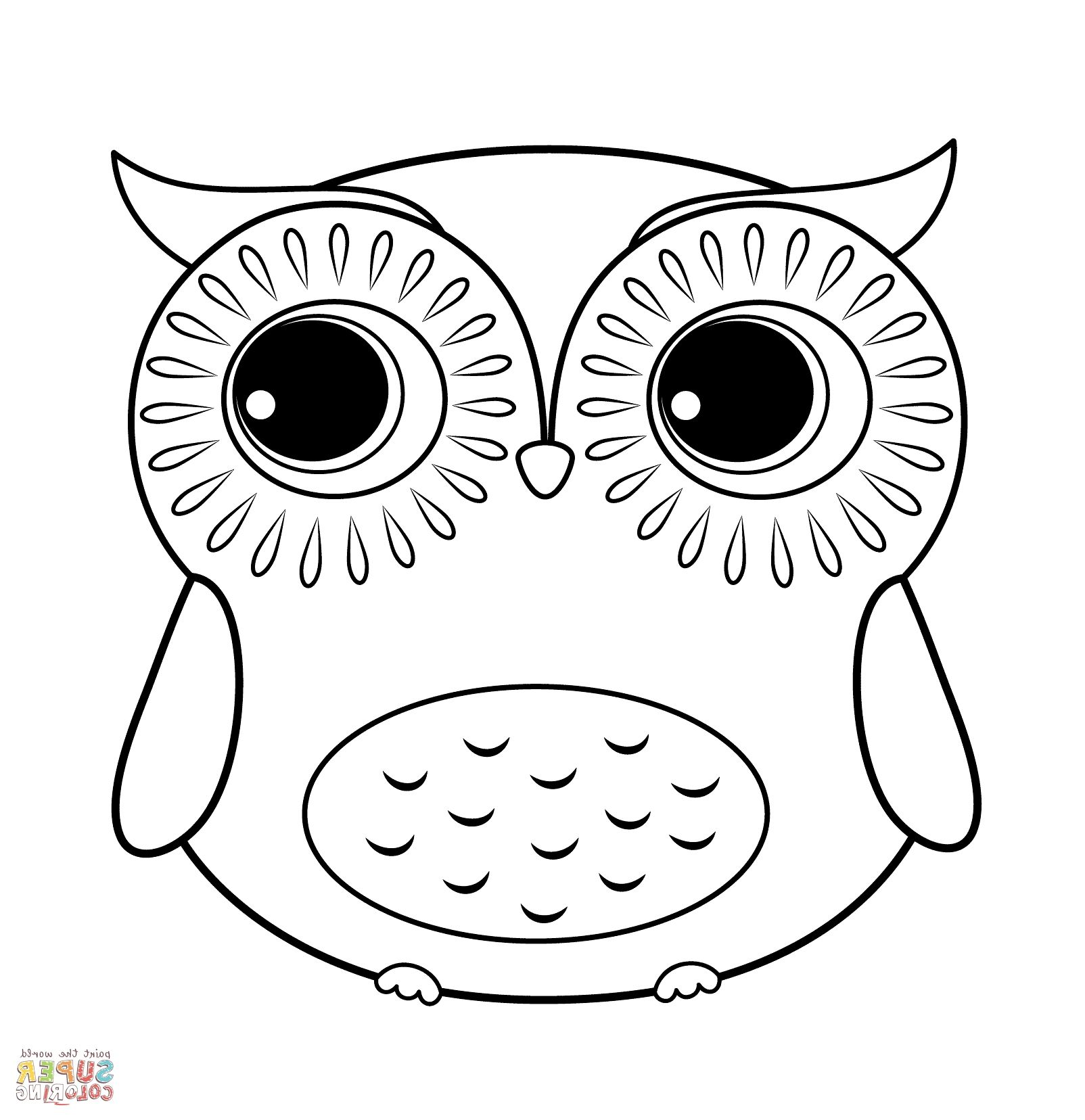 Coloring Pages Owls Owl Coloring Pages Cartoon Coloring Pages Cute Easy Animal Drawings