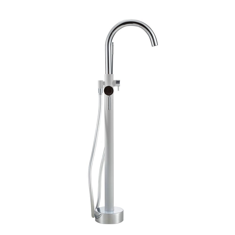 Ove Decors Milly 1 Handle Freestanding Roman Tub Faucet With Hand