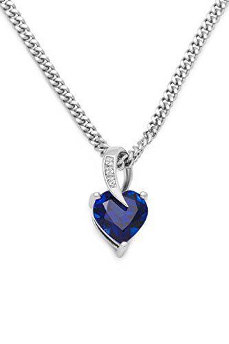 avec une boite /à bijou LillyMarie Collier pour femmes en argent sterling 925 45 cm vrais Swarovski Elements rouge pendentif coeur