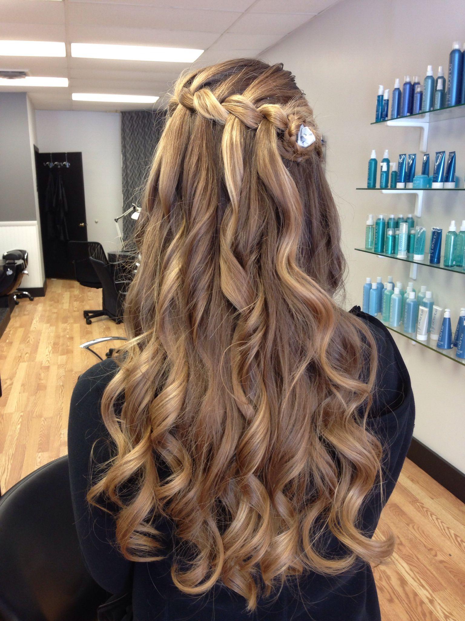 prom hairstyle for long hair | ~hair~ | hair, curly bridal