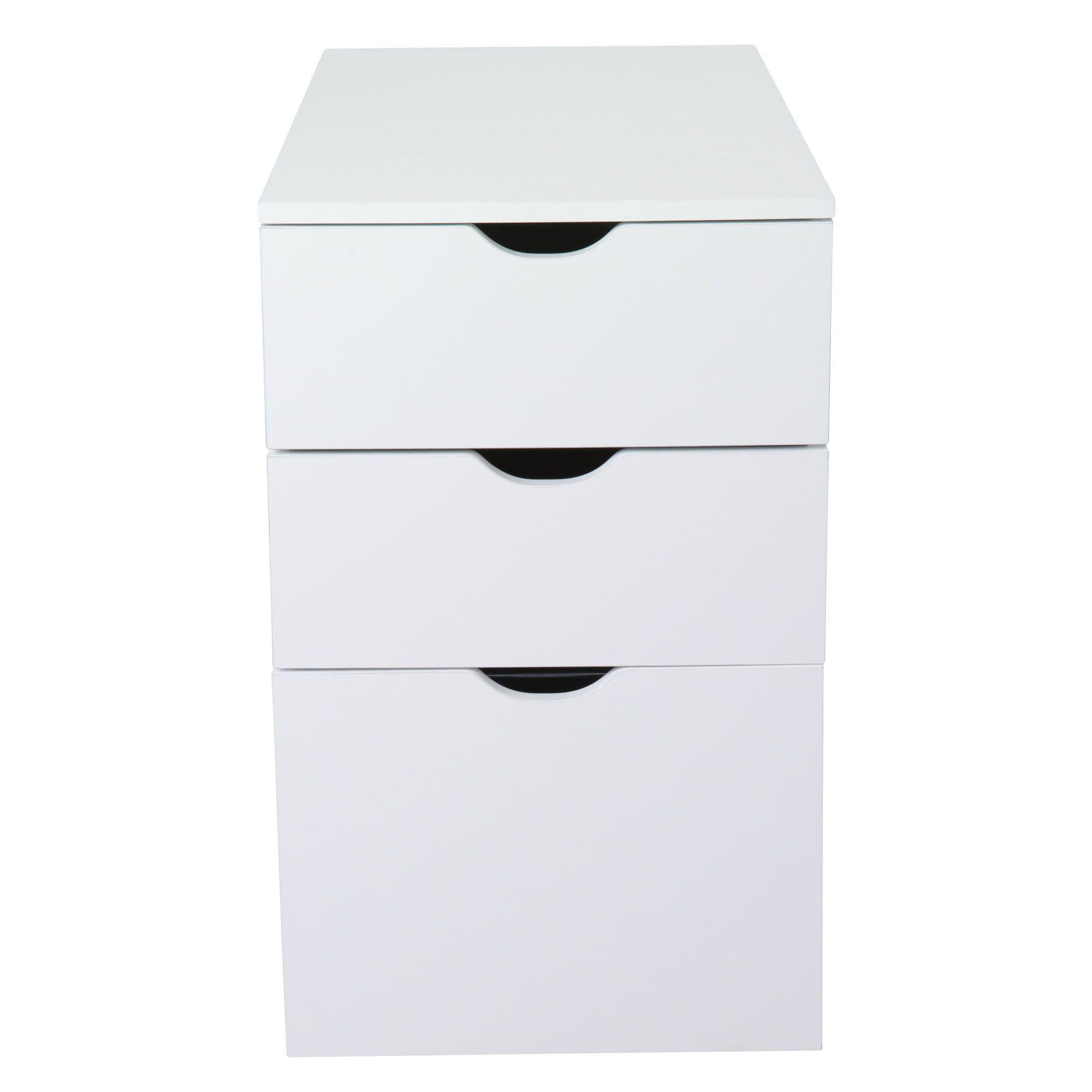 caisson de bureau 3 tiroirs blanc l30xh70xp70cm gothan les plateaux et tr teaux les. Black Bedroom Furniture Sets. Home Design Ideas