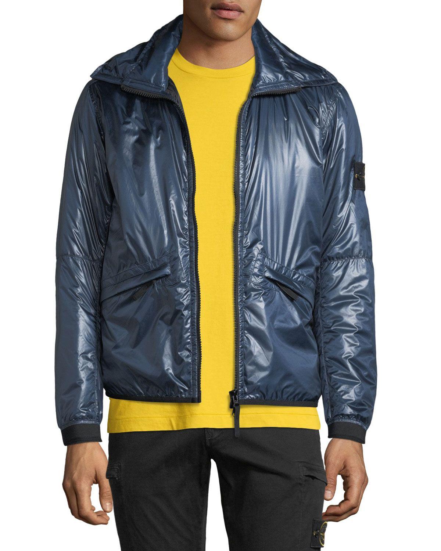Stone Island Men S Metallic Zip Front Puffer Jacket Stoneisland Cloth Puffer Jackets Jackets Tops Designs [ 1500 x 1200 Pixel ]