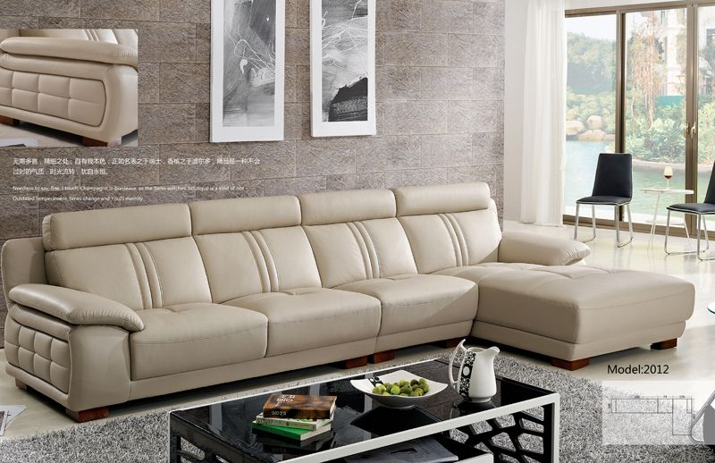 European Modern Furniture Modern Style Sofa American European Design L Shaped Cattle Leather Leather Sofa Furniture Sofa Design Corner Sofa Design