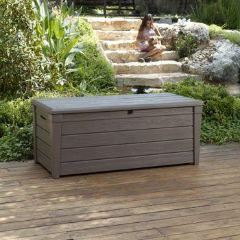 Keter Brightwood 120 Gallon Deck Box Costco 99 Deck Box Storage