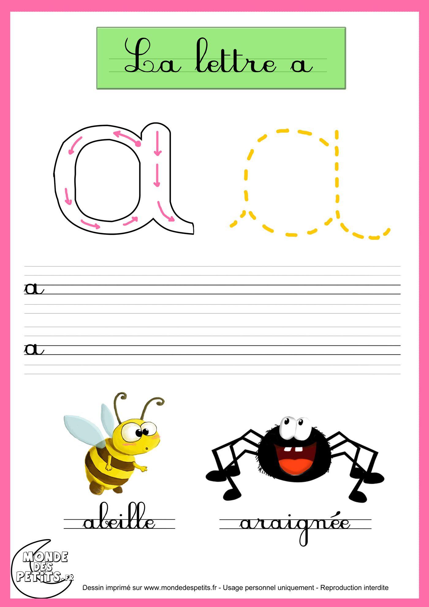 Exercice_La lettre A | activite maternelle | Lettre a ...