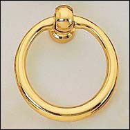 Lee Valley Brass Ring Pull   Hardware
