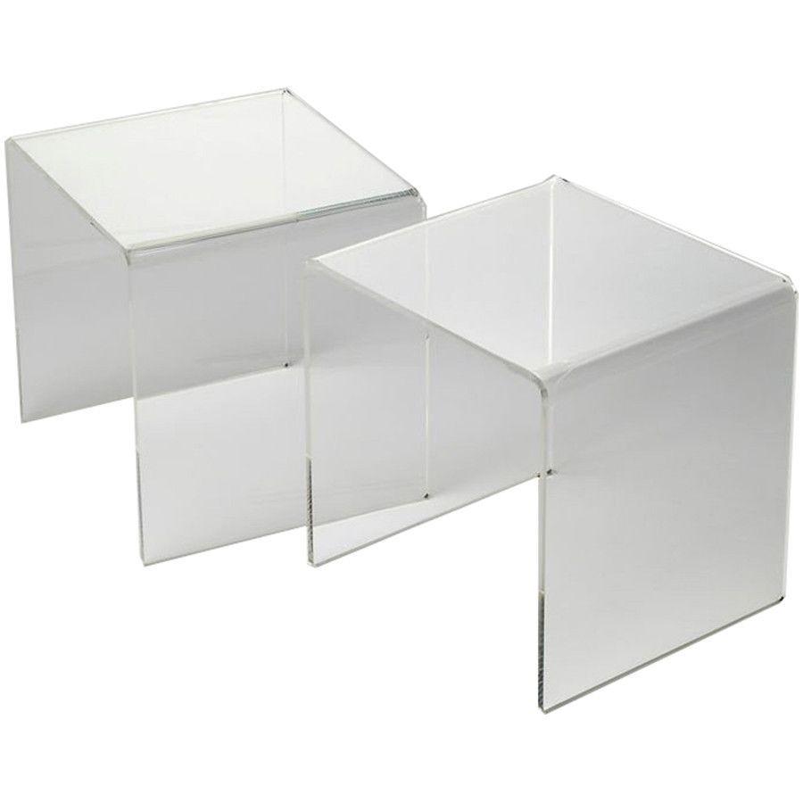 854559d433301 Butler Loft Crystal Clear Acrylic Bunching Table