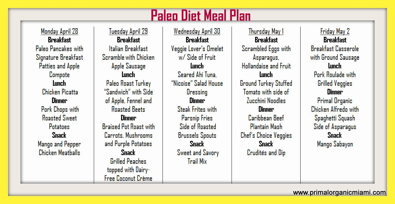 Paleo Diet Delivery Meal Plan Menu 4 28 Paleo Diet Crossfit Miami Paleo Diet Paleo Diet Examples Paleo Diet Meal Plan