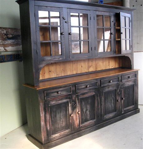 Custom Hutch With Multi Colored Finish