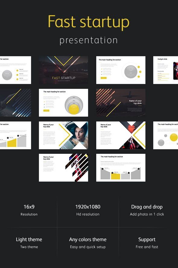 Fast Startup Powerpoint Template  Template Keynote And Font Logo