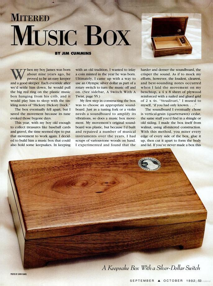 Music Jewelry Box Tutorial Jewelry Box Plans Music Box Jewelry Woodworking