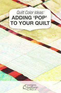 Quilt Color Ideas: Adding 'Pop' to Your Quilt : quilt color ideas - Adamdwight.com