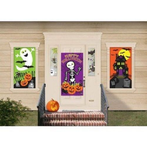 HALLOWEEN DECORATION KIT 33 PC SET PAPER CUT OUTS PARTY BANNERS
