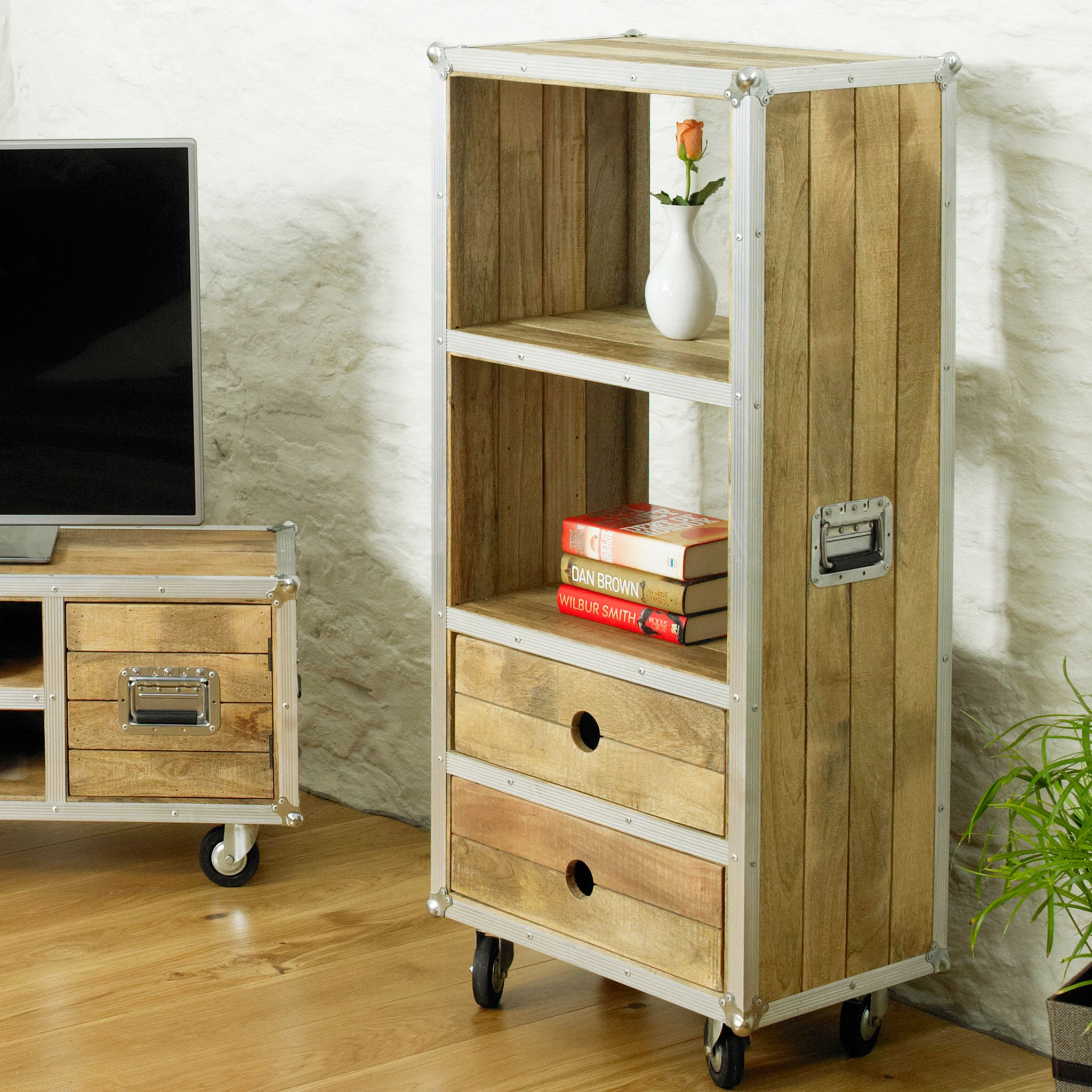 roadie chic low bookcase with drawers u2013 harley u0026 lola
