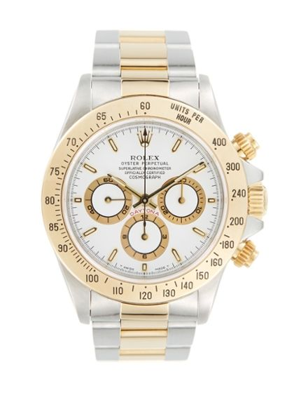 Rolex Oyster Perpetual Daytona Two-Tone & White Dial Chronograph Watch, 40mm ...one day