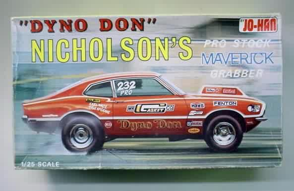 Jo Han Dyno Don Nicholson S Pro Stock Maverick Model Kit