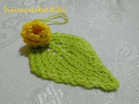 örgü YAPRAK ( knit leaf ) - YouTube