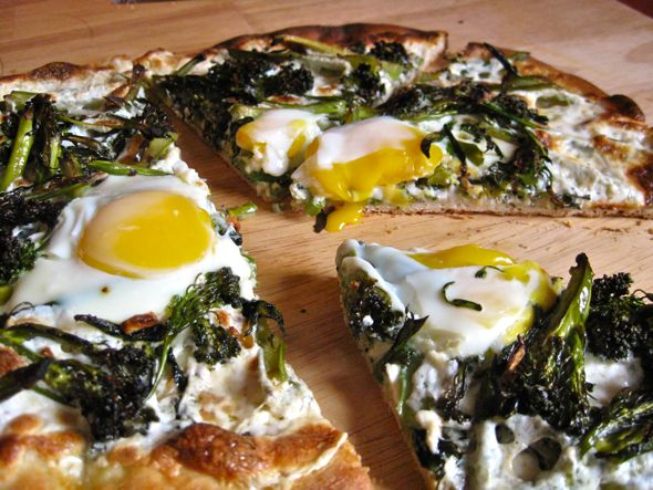 Indie Fixx Broccoli Rabe And Soft Baked Egg Pizza Egg Pizza Food And Drink Broccoli Rabe