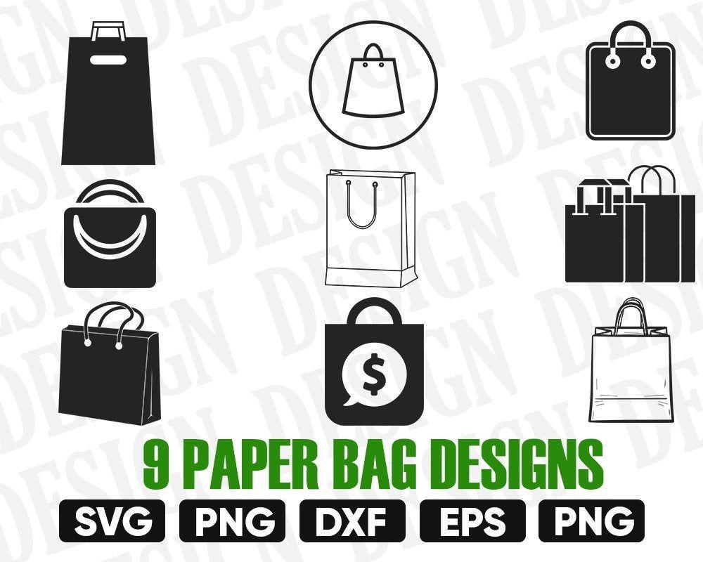 Paper Bag Svg Bag Svg Bundle Paper Bag Template Shopping Etsy Svg Paper Bag Etsy Download