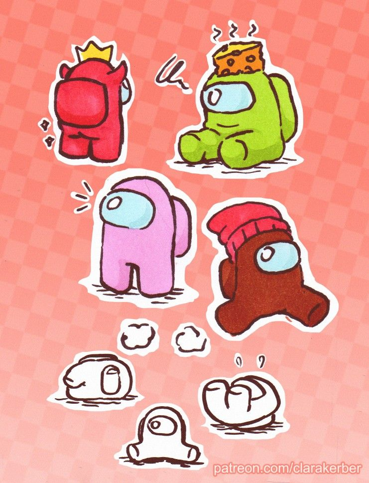 Among Us Cute Wallpaper Hd Among Us New Tab Cute Wallpapers Cute Drawings Cute Stickers