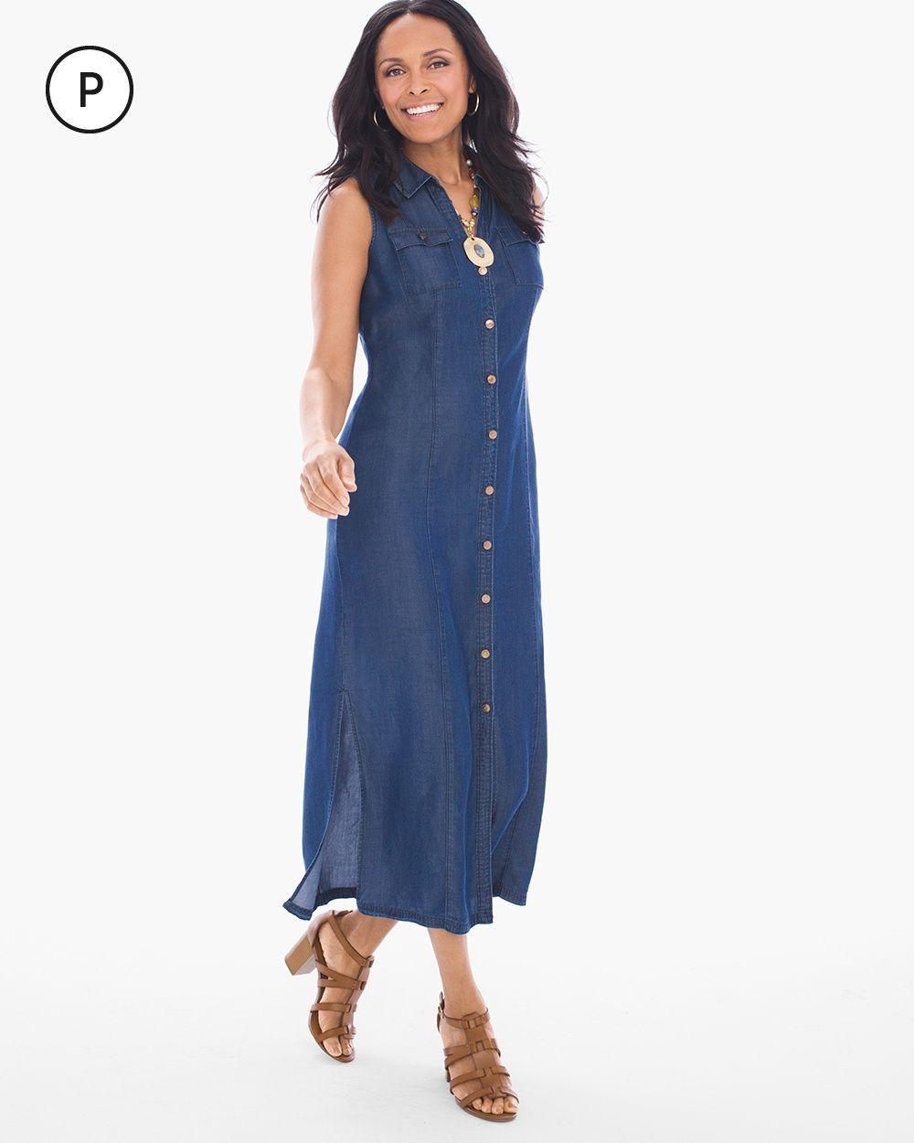 ea28f490be Chico s Women s Petite Chambray Shirt Dress