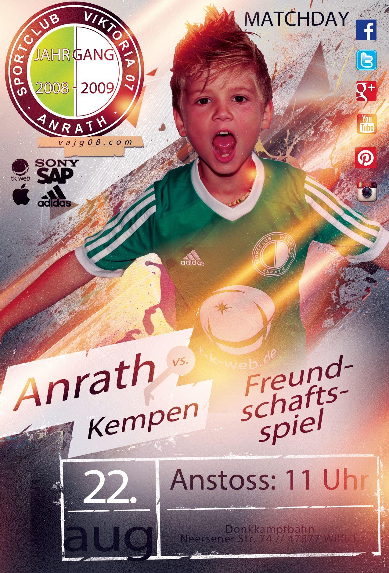 Wir spielen am kommenden Samstag, den 22. August um 11 Uhr zu Hause gegen TS Kempen. Mehr unter vajg08.com