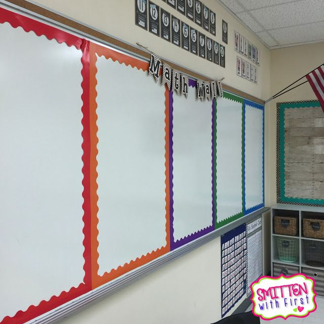 Classroom Whiteboard Decoration ~ Divide your whiteboard with colorful borders to create