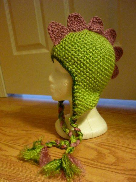 Crochet Mohawk Hat Crochet Dinosaur Hat Mohawk Spines Custom