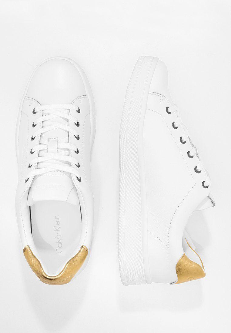 Calvin Klein Solange Trainers White Gold Zalando De Solange Calvin Calvin Klein