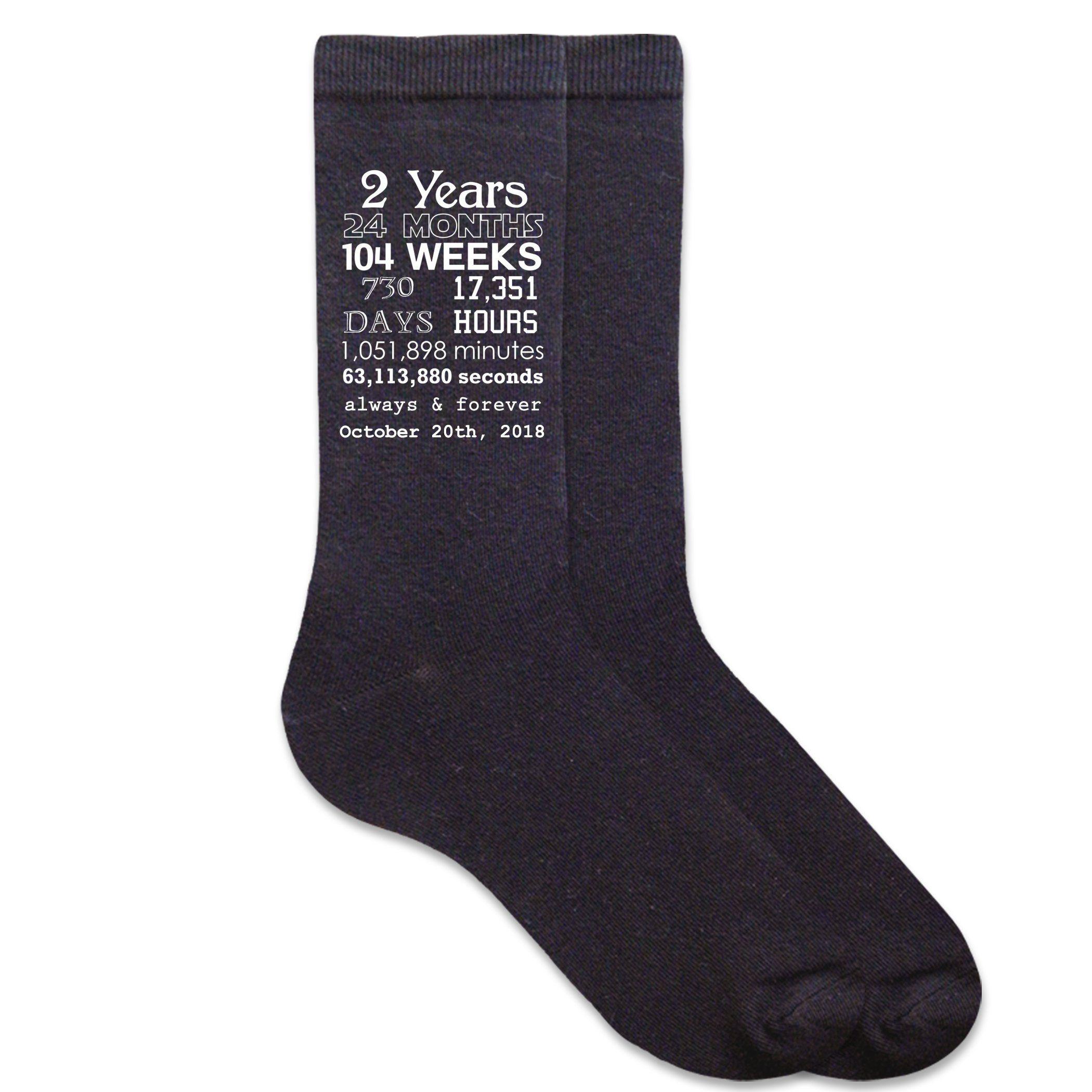 2nd Wedding Anniversary Gifts For Men: 2nd Anniversary Men's Dress Socks