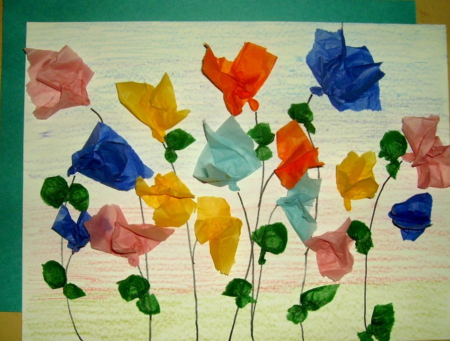 Tissue Paper Flowers Glitter Queen Crafting Ideas For School