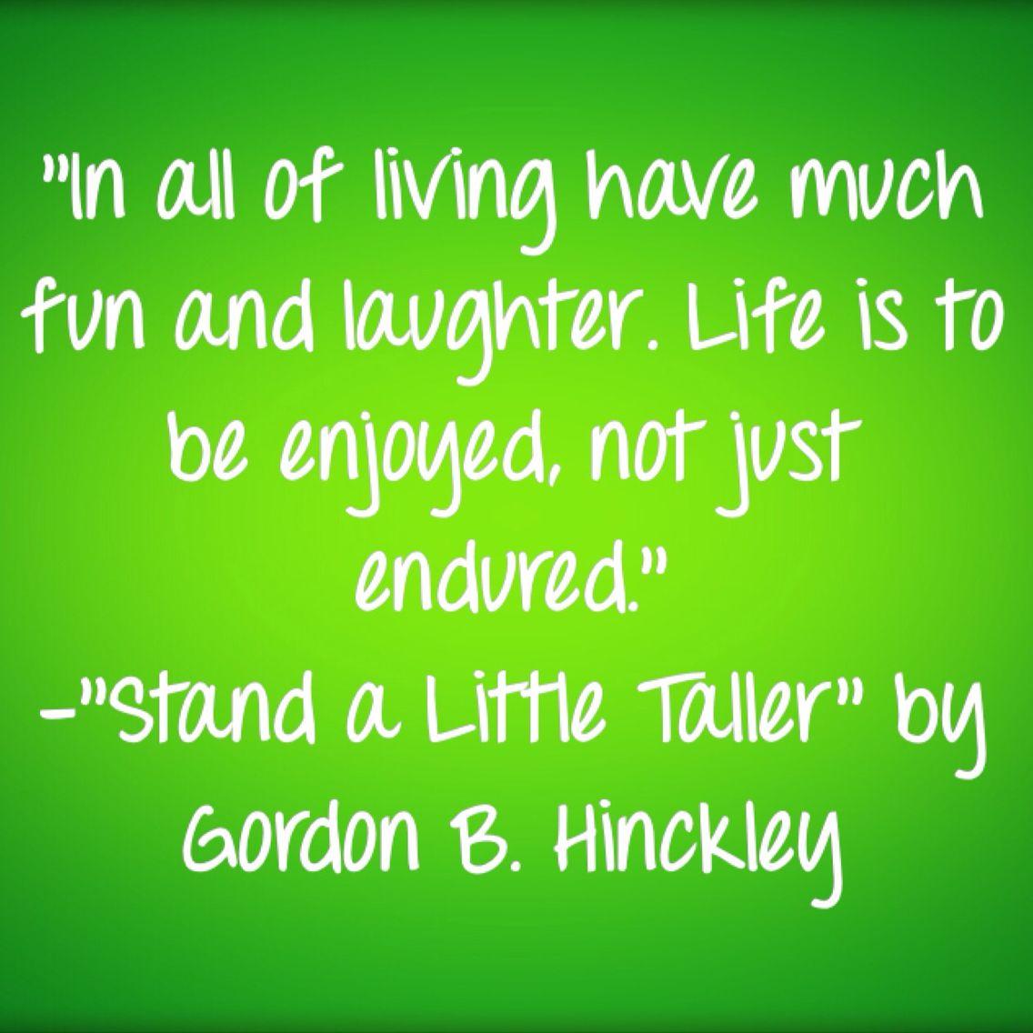 September 8-Enjoy Life