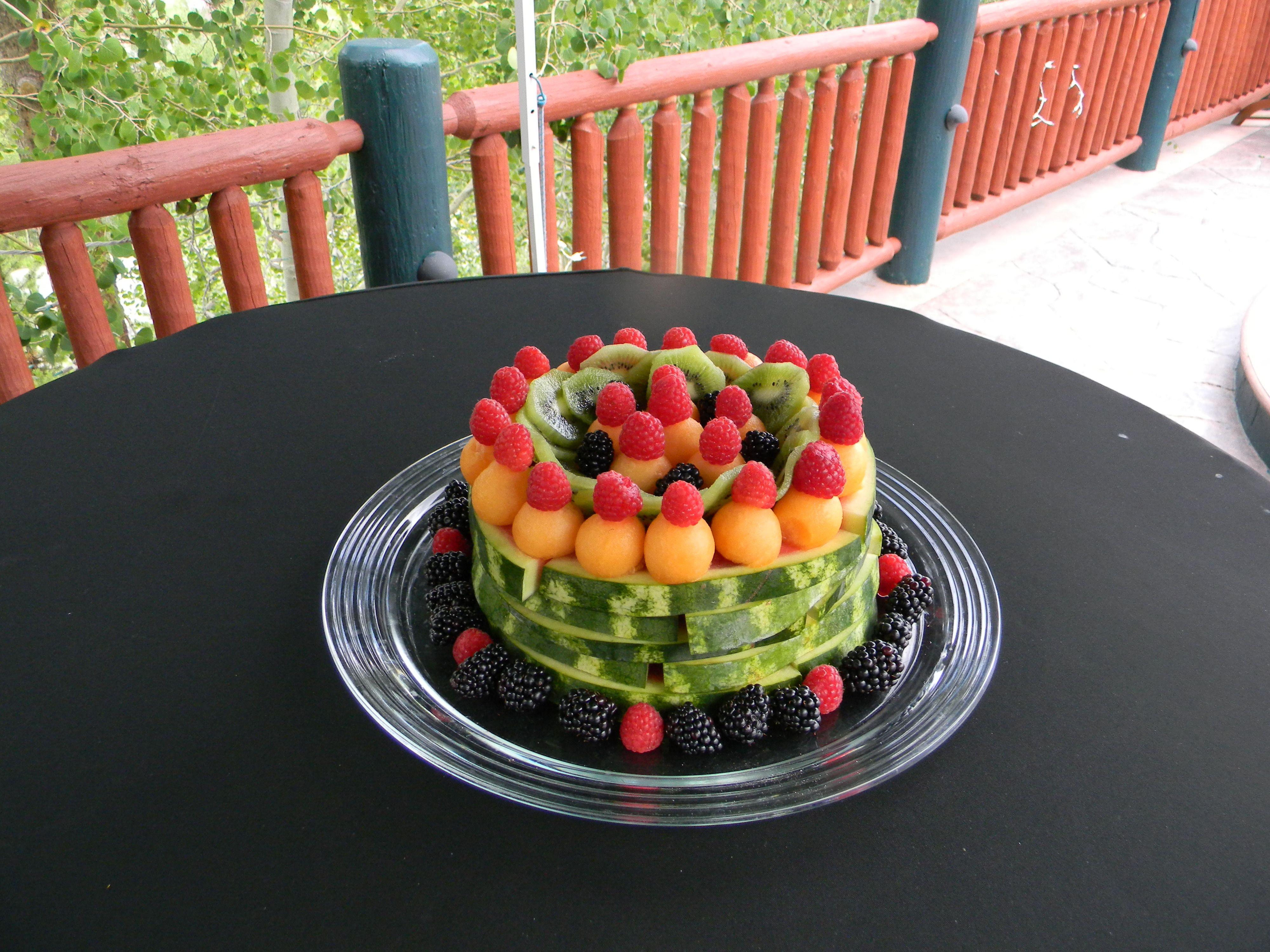 Fruit Cakemade entirely of fruit nummy food Pinterest