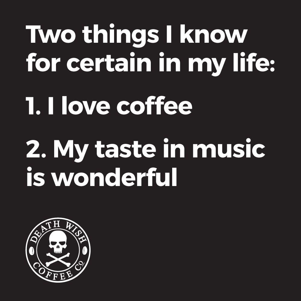 Coffee and Music Equal Wonderful Time | because...coffee | Coffee ... #blackCoffee