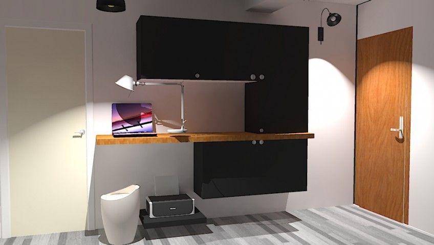 Une entrée bureau fonctionnelle et intégrée idee bureau