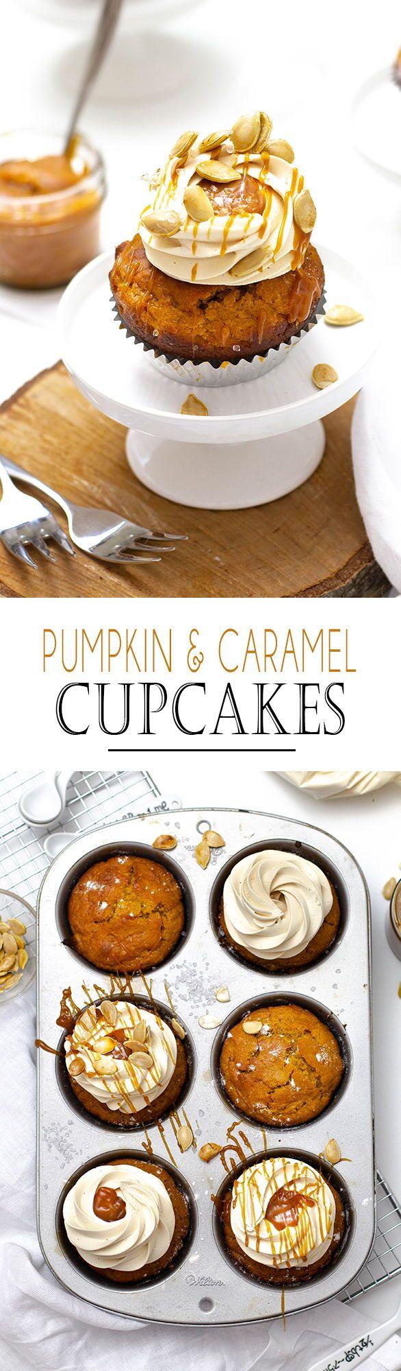 Kürbis Salted Caramel Cupcakes - KüchenDeern