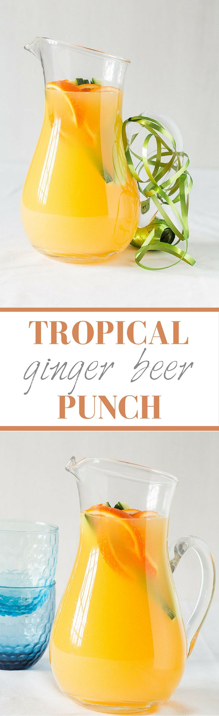 A festive and easy Tropical Ginger Beer Punch Recipe | Recipes From A Pantry