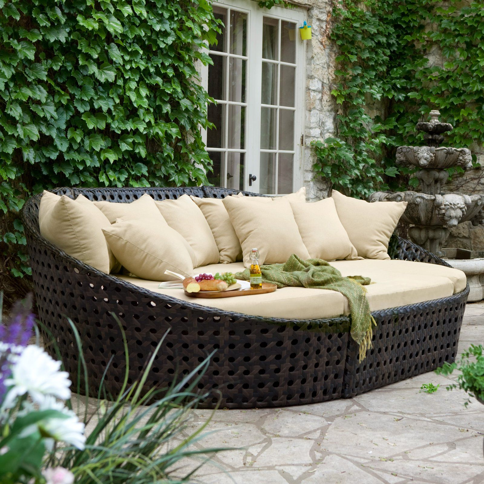 Madrid All Weather Wicker Oversized Sectional Daybed & Madrid All Weather Wicker Oversized Sectional Daybed | outdoor ...