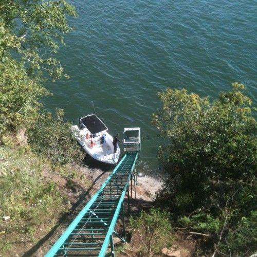 Canada high tide and solar power funicular railway tram ...