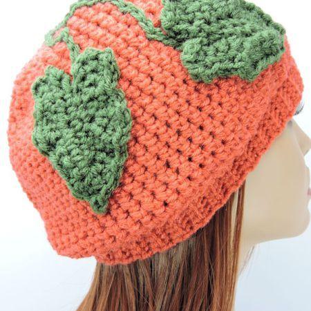 A Little Slouchie Pumpkin Hat | Crochet Hats | Pinterest