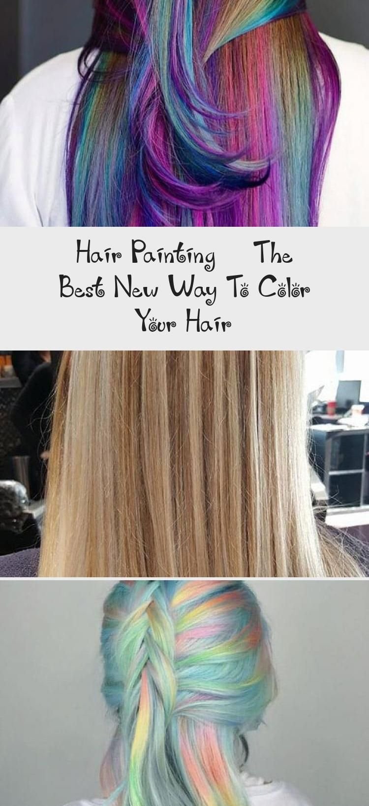 Pin Trend In 2020 Hair Painting Cool Hairstyles Fluid Hair Painting