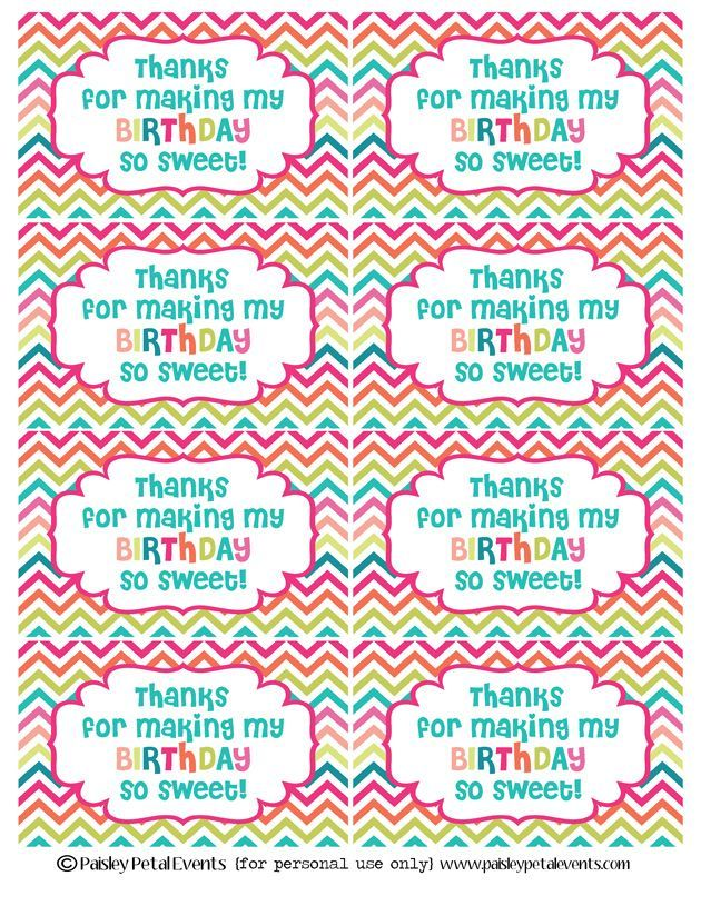 Easy classroom birthday treats classroom birthday treats easy negle Images