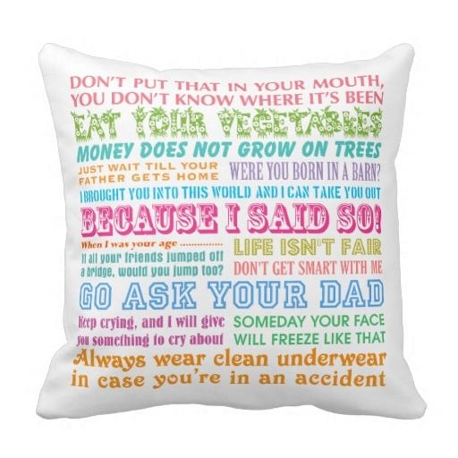Funny Mom\'s Sayings Throw Pillows | FUNNY Mother\'s Day Gifts ...