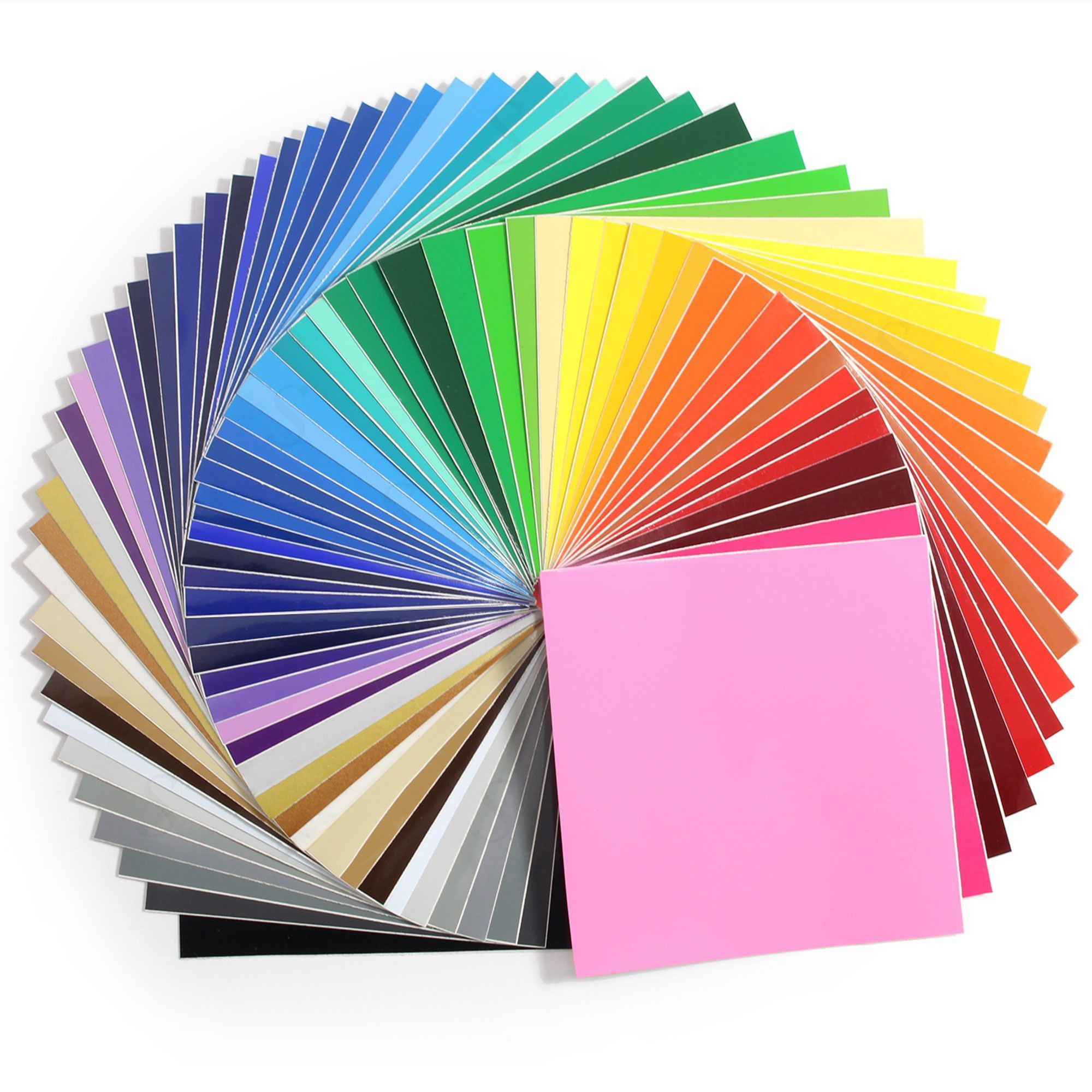 Oracal 651 Vinyl Bundle 12 X 12 61 Assorted Colors Adhesive Vinyl Sheets Cricut Supplies Cricut Vinyl