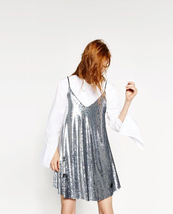 Bild 5 von KLEID MIT PAILLETTEN von Zara   Fashion   Pailletten ... a874be8057
