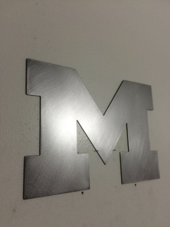 Block M Steel Metal Wall Art Metal Wall Art Steel Metal Steel Material