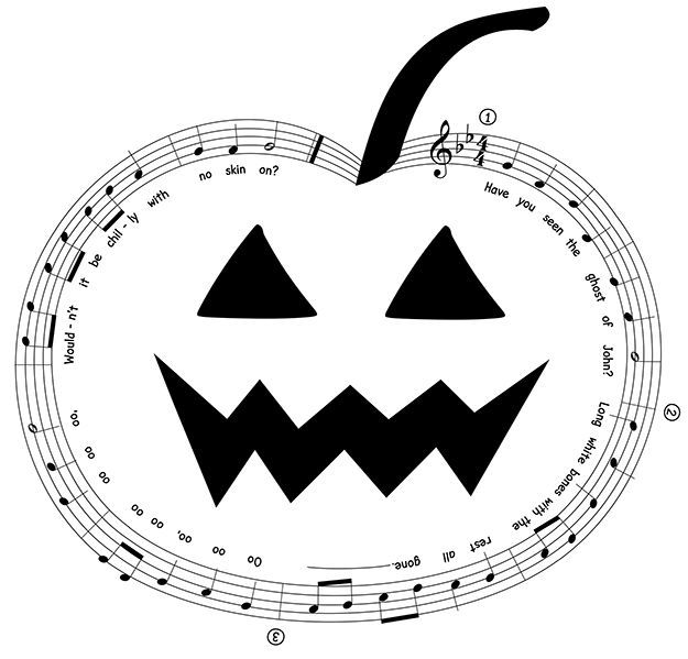 This traditional Halloween song can be sung as a round | Music